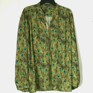 The Limited Peacock Print Blouse